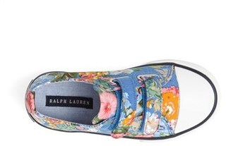 Ralph Lauren 'Harbour EZ' Sneaker (Baby, Walker & Toddler)
