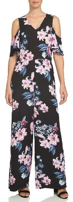Women's Cece Cold Shoulder Floral Jumpsuit $139 thestylecure.com
