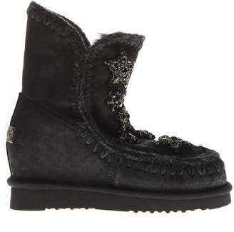 Mou Stars Black Suede Boots