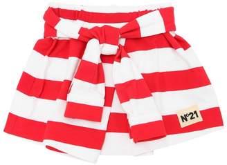 N°21 Striped Cotton Sweat Skirt