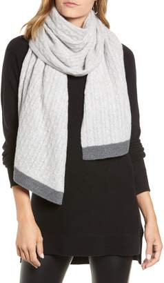 Halogen Cable Knit Cashmere Scarf