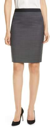 BOSS Vimena Micro Pattern Suit Skirt
