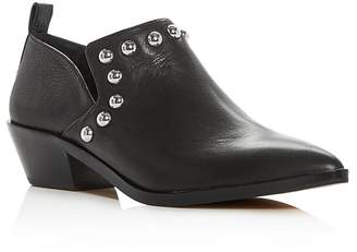 Rebecca Minkoff Women's Katen Studded Leather Low Heel Booties