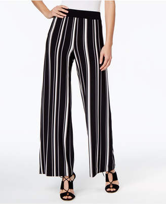 INC International Concepts I.N.C. Striped Wide-Leg Trousers, Created for Macy's
