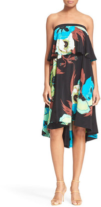 Tracy Reese Floral Print Strapless Dress $498 thestylecure.com