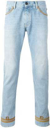 Palm Angels gold-tone piping skinny jeans