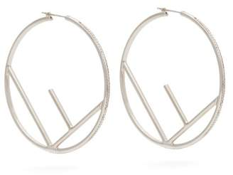 Fendi F Is Crystal Embellished Hoop Earrings - Womens - Crystal
