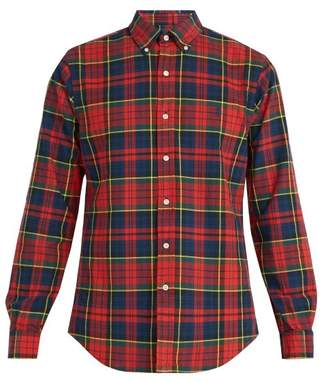 Polo Ralph Lauren Tartan Print Cotton Shirt - Mens - Red Multi