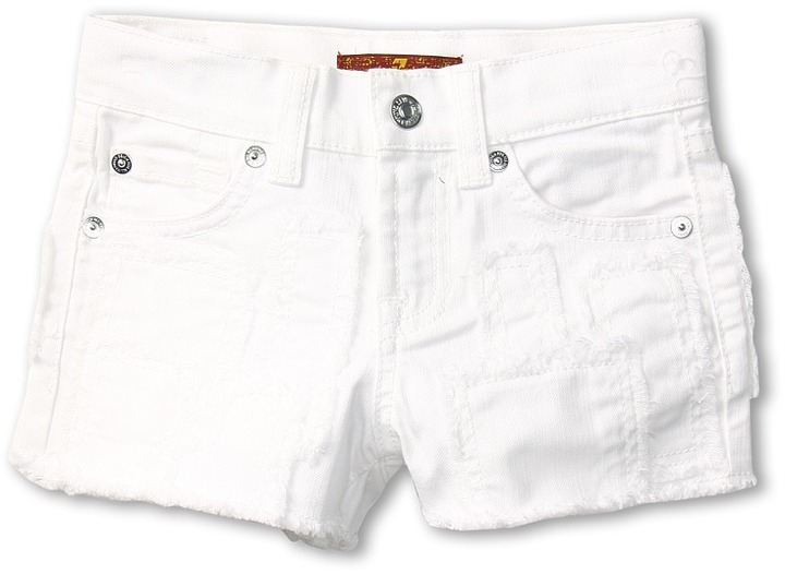 7 For All Mankind Kids - Girls' Short in Clean White (Little Kids) (Clean White) - Apparel