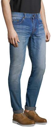 Saint Laurent Paris Straight-Leg Fade Pant