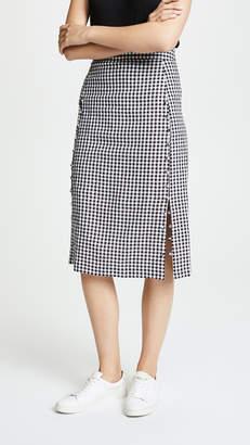 Madewell Gingham Pencil Skirt