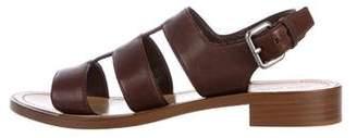 Miu Miu Leather Ankle-Strap Sandals