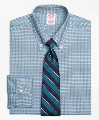 Brooks Brothers Original Polo Button-Down Oxford Traditional Relaxed-Fit Dress Shirt, Ground Twin Check