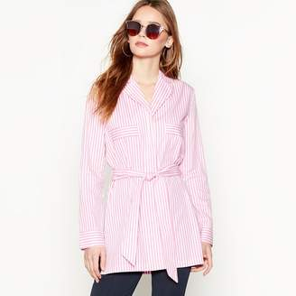 MBYM Pale Pink Cotton Stripe 'Centa' Long Sleeve Shirt