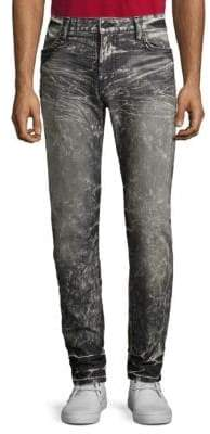 Studded Washed Slim Fit Jeans