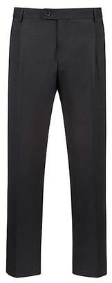 HUGO BOSS Extra-slim-fit cropped trousers with silk stripe