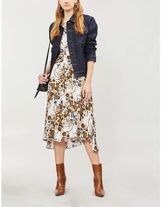 Free People Tough Love floral-pattern crepe shirt dress
