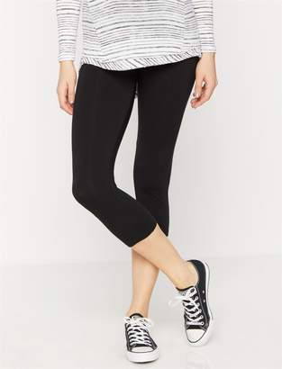 A Pea in the Pod Luxe Essentials Secret Fit Belly Crop Maternity Leggings