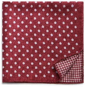 Bloomingdale's The Men's Store at Dot/Houndstooth Reversible Pocket Square - 100% Exclusive