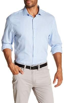 Michelson's Blue Fancy Stripe Slim Fit Shirt