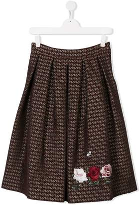 MonnaLisa TEEN embroidered skirt