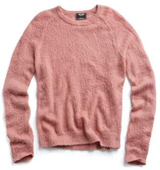 Todd Snyder Italian Brushed Wool Crewneck Sweater in Pink