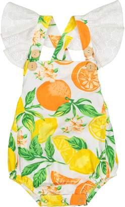 Masala Baby Citrus Blossom Flutter Bubble Romper