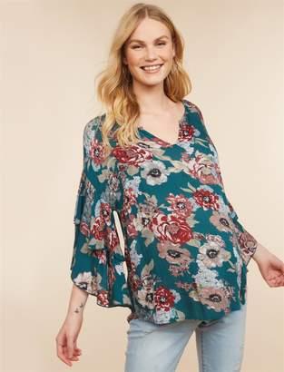 Jessica Simpson Motherhood Maternity Ruffled Maternity Blouse