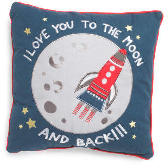 18x18 Kids Love You To The Moon Pillow