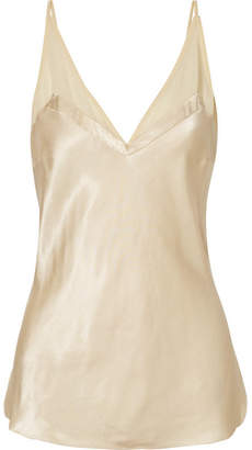 By Malene Birger Geovana Chiffon-trimmed Satin Camisole - Cream
