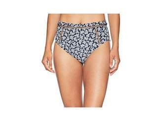 MICHAEL Michael Kors High-Waisted Bikini Bottoms w/ Ladder Insert Women's Swimwear