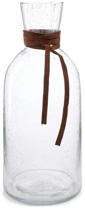 Lucky Brand Closeout! Tall Bubble Vase with Leather Accent