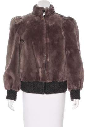Christian Dior Sheared Mink Bomber Jacket