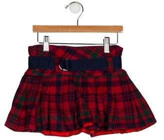 Ralph Lauren Girls' Plaid Pleated Skirt