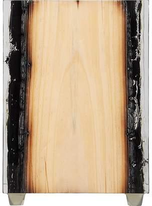 Bleu Nature Nilleq Burnt Driftwood-Inset Acrylic Objet d'Art
