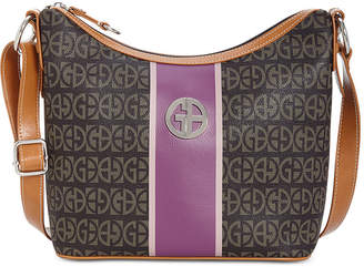 3107cd4c79a9d Giani Bernini Giani Block Signature Stripe Hobo