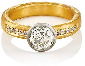 Malcolm Betts Women's Round-Faced Ring-Gold