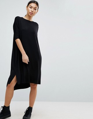 ASOS Oversize T-Shirt Dress With Curved Hem $34 thestylecure.com