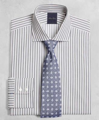 Brooks Brothers Golden Fleece Milano Slim-Fit Dress Shirt, English Collar Alternating-Split-Stripe
