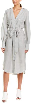 BCBGMAXAZRIA Tie-Waist Shirtdress