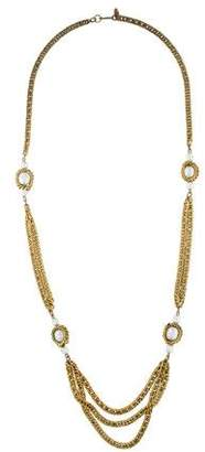 Miriam Haskell Pearl Station Necklace
