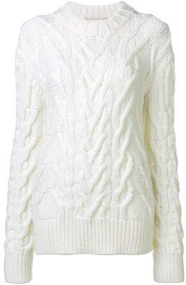 Nina Ricci oversized cable knit sweater