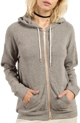 Women's Volcom Lil Zip Fleece Hoodie $55 thestylecure.com
