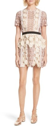 Women's Self-Portrait 3D Floral Lace Peplum Dress $545 thestylecure.com