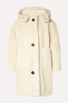 Sea Sonnet Oversized Hooded Faux Shearling Coat - Cream