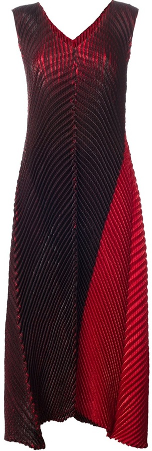 Issey Miyake pleated structured dress