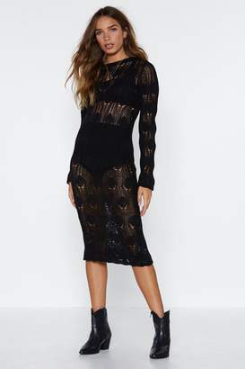 Nasty Gal It's Crochet to Be Different Midi Dress