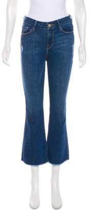 Frame Le Crop Mini Boot Mid-Rise Straight-Leg Jeans w/ Tags
