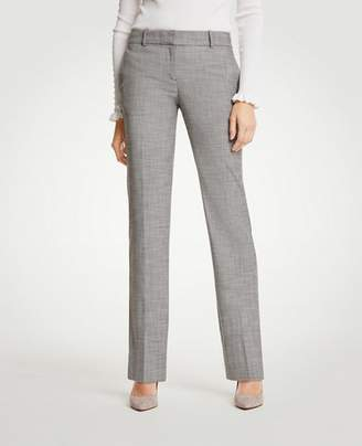 Ann Taylor The Straight Leg Pant In Crosshatch