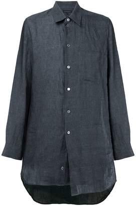 Ann Demeulemeester extra long linen shirt
